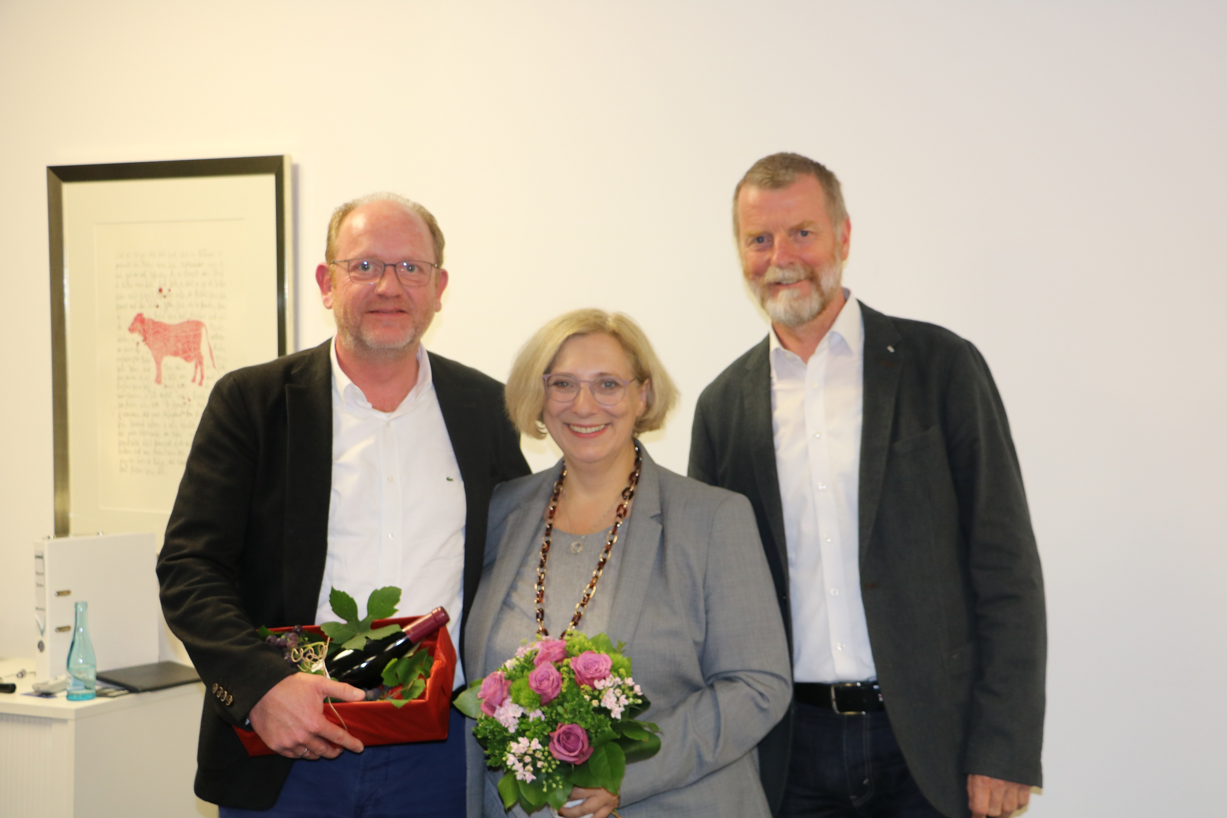 Geschäftsführer Wolfgang Paus, Dr. Daniela De Ridder und SPD-Ortsvereinsvorsitzender Hugo Kirchhelle