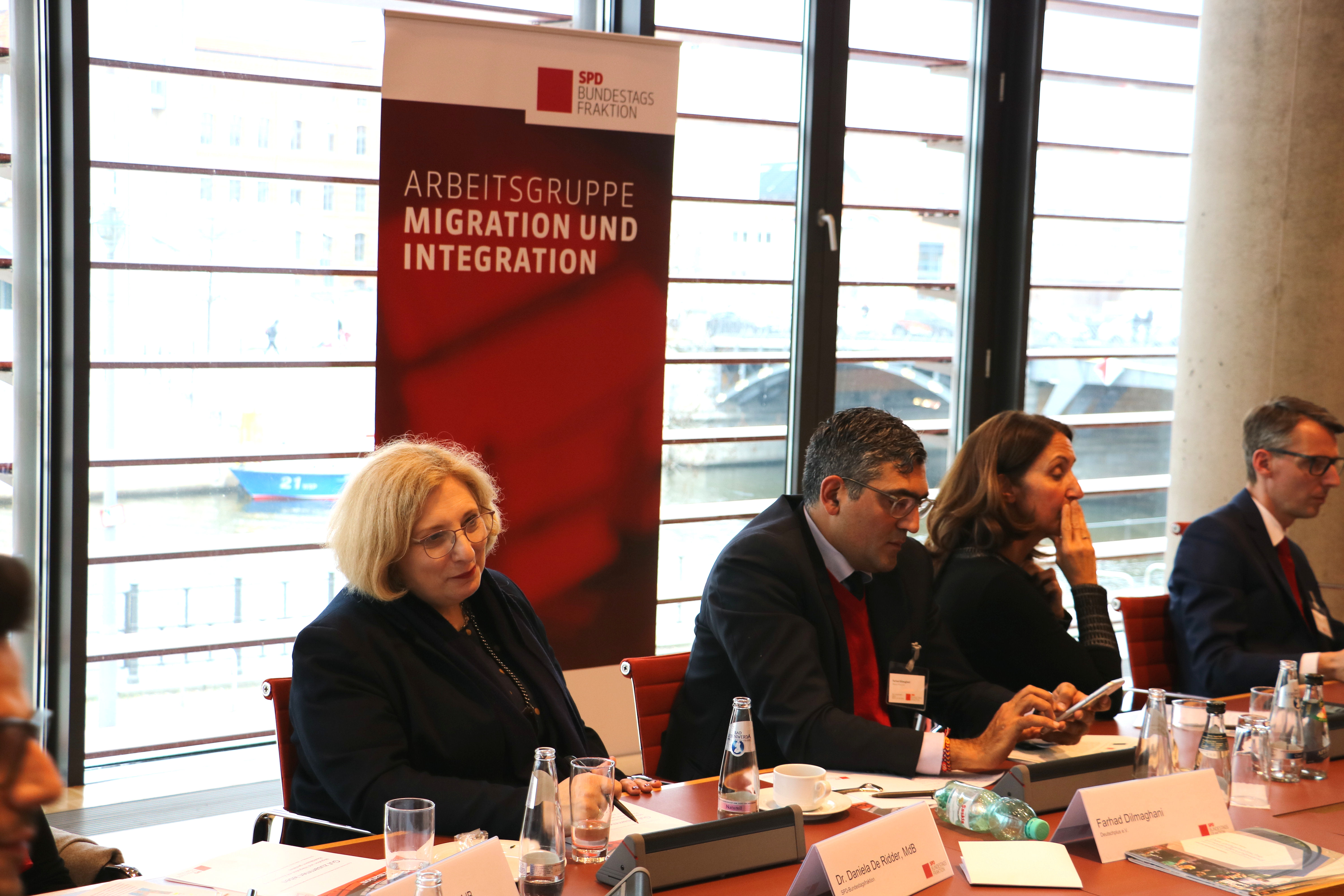 Dr. Daniela De Ridder beim Forum der AG Migration und Integration der SPD-Bundestagsfraktion