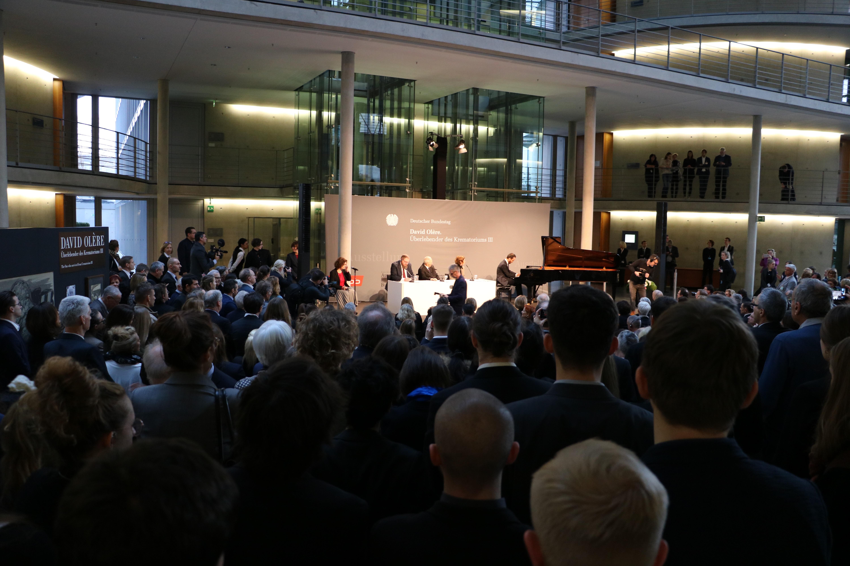 Eröffnung der Ausstellung zu David Olères Werken III