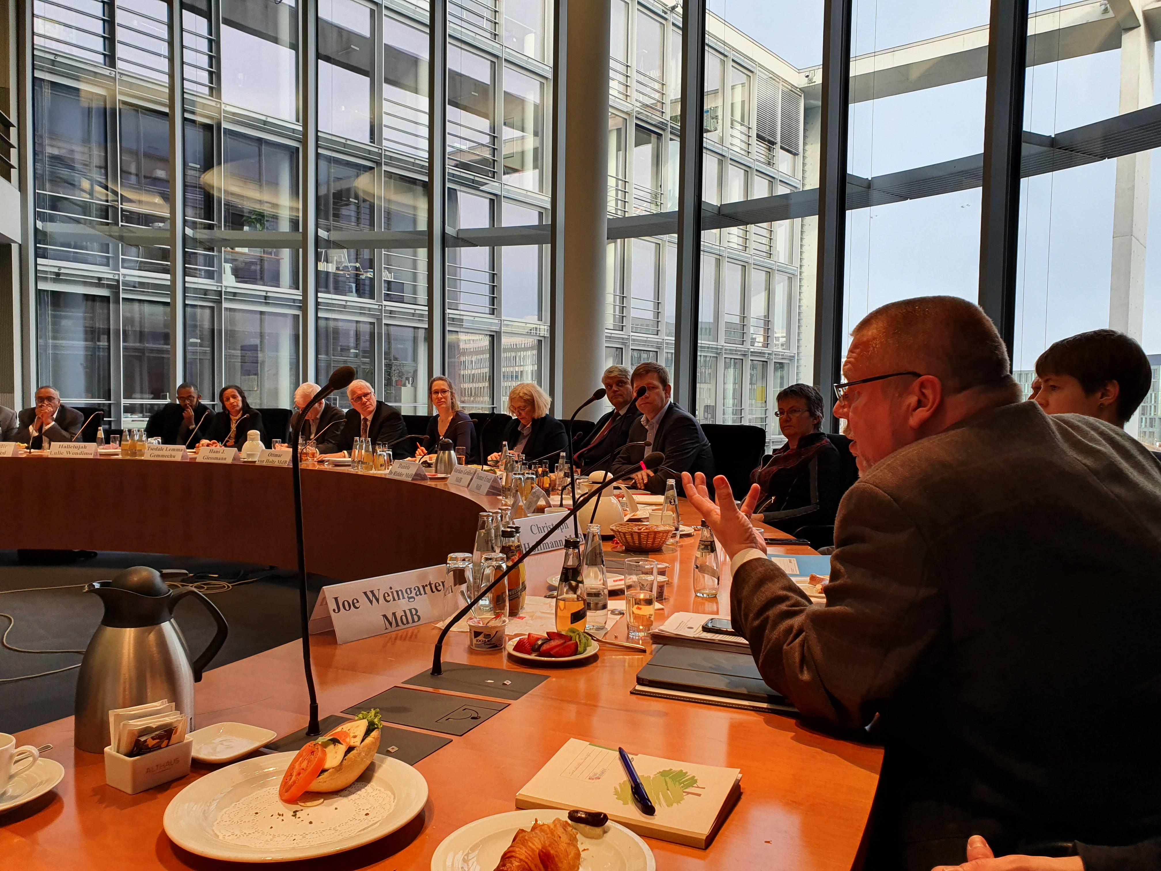 Delegation aus Äthiopien im Bundestag