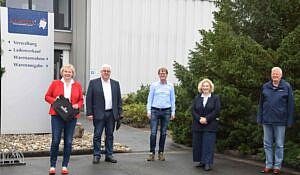 v.l.n.r. Karin Logemann (MdL), Gisbert Boermann, Heinrich Eckhard Klümper, Dr. Daniela De Ridder, Peter Albers