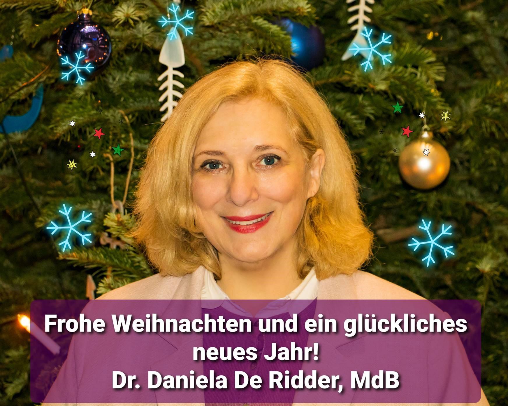 Dr. Daniela De Ridder wünscht frohe Weihnachten und ein glückliches Jahr 2021