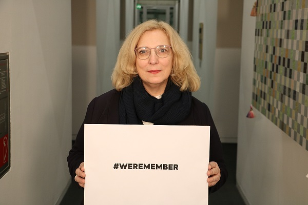 Dr. Daniela De Ridder zum Gedenken an die Opfer des Holocaust