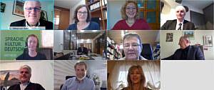 Mitglieder des Unterausschusses für zivile Krisenprävention auf ihrer digitalen Sudanreise