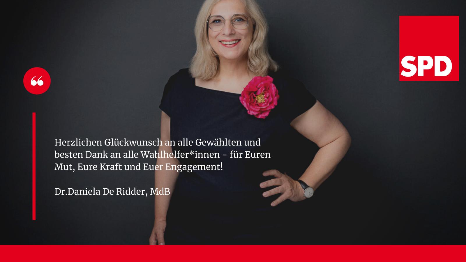 Statement Dr. Daniela De Ridder